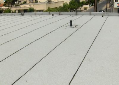 roof after bitumen rolls applied